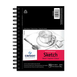 Canson Universal Sketch Pad - 8-1/2'' x 5-1/2'', Portrait, 100 Sheets