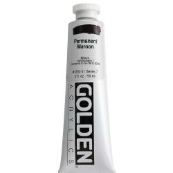 Golden Heavy Body Artist Acrylics - Permanent Maroon, 2 oz Tube Tube
