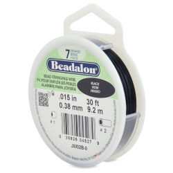 Beadalon 7 Bead Stringing Wire - Black, 0.015'' x 30 ft