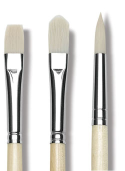Da Vinci Top Acryl Synthetic Brush - Bright, Short Handle, Size 35