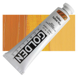 Golden Heavy Body Artist Acrylics - Indian Yellow Historic Hue, 2 oz Tube