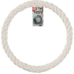 Pepperell Craft Natural Cotton Rope Wreath - 12''
