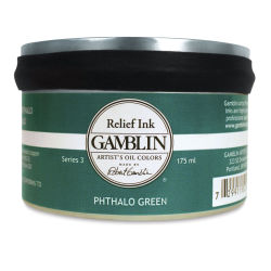Gamblin Artist's Colors Relief Ink - Phthalo Green, 175 ml
