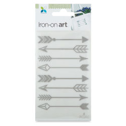 Momenta Iron-On Art - Silver Foil Arrows
