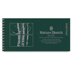 Pentalic Nature Sketch Book - 12'' x 6, 50 Sheets
