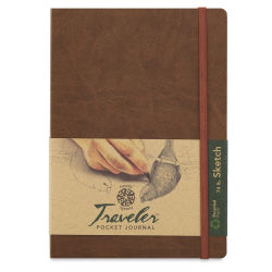 Pentalic Recycled Traveler's Sketchbook - 8-1/4'' x 5-7/8'', Metallic Copper