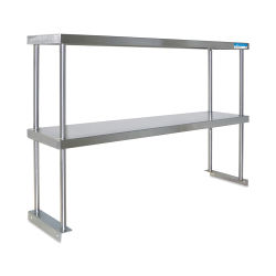 Diversified Woodcrafts Stainless Steel Shelf - Double Shelf, 60'' L x 12''W, for use with Steel Table
