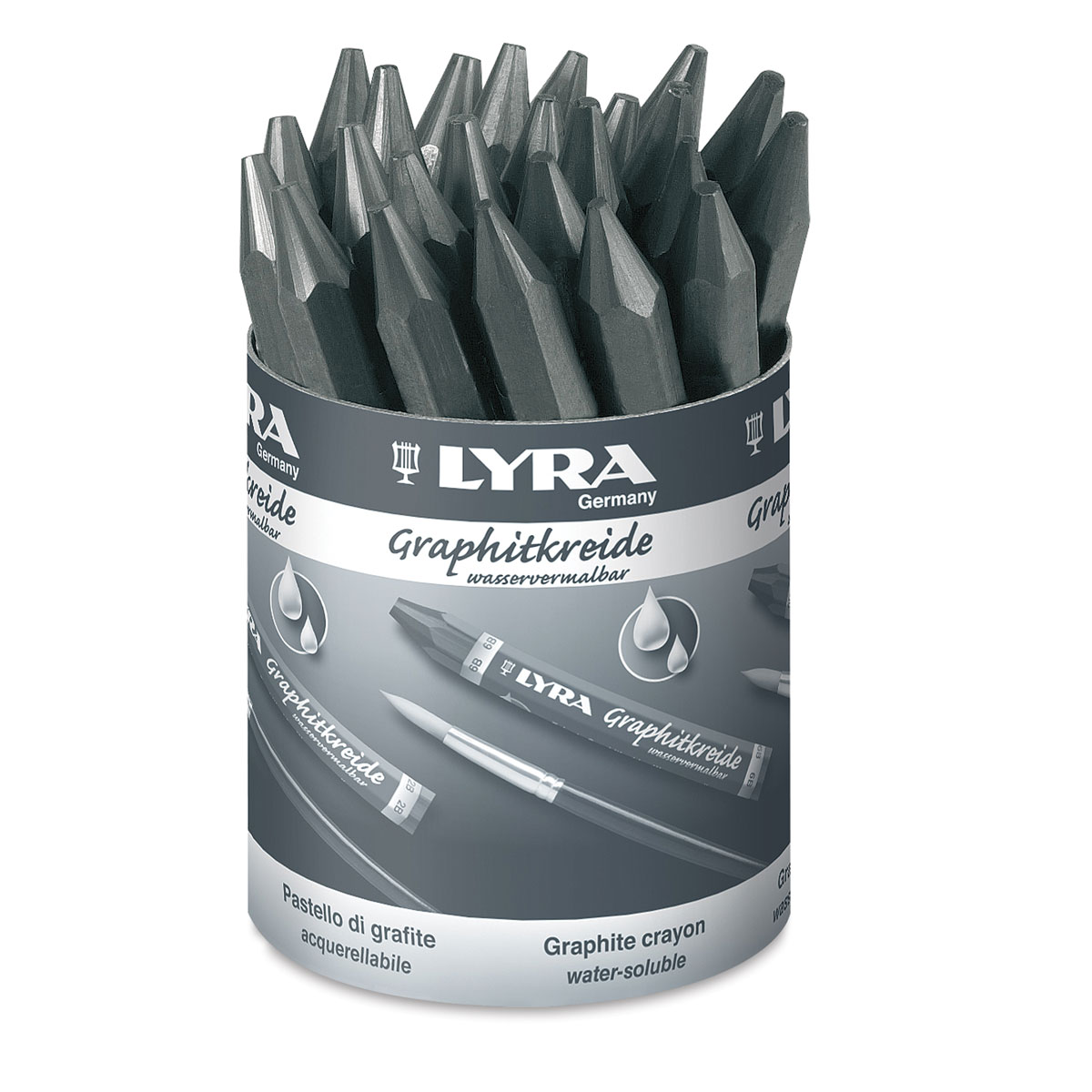 Lyra Graphite Crayons Water-Soluble
