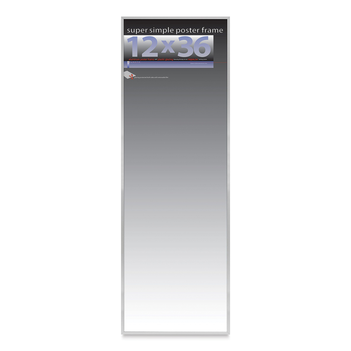 Framatic Super Simple Poster Frame - Silver, 12 x 36