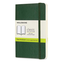 "Moleskine Classic Soft Cover Notebook - Metallic Green, Blank, 5-1/2"" x 3-1/2"""