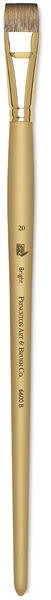 Princeton Synthetic Mongoose Brush - Bright, Long Handle, Size 20