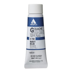 Holbein Acryla Gouache - Navy Blue, 40 ml tube