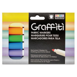 Marvy Uchida Graffiti Fabric Markers - Set of 6, Pastel Colors