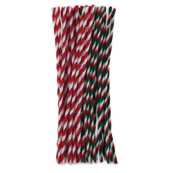 Holiday Chenille Stems - Christmas Twists, 8 mm x 12'', Pkg of 40
