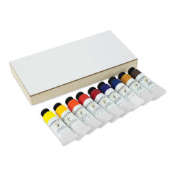 Shiva Signature Artist Oil Color - Set of 9 with Cradled Panel