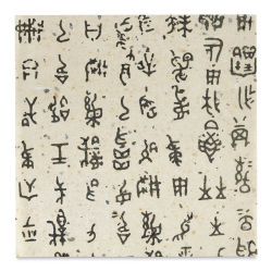 "Black Ink Korean Hanja Script Paper - Pictograph, Black/Natural, 12"" x 12"""