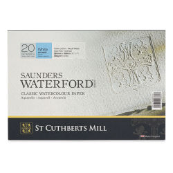 "Saunders Waterford Watercolor Block - 7"" x 10"", Cold Press, 140 lb, 20 Sheets (front cover)"