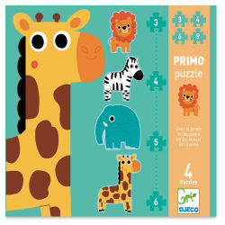 Djeco Progressive Puzzles- In the Jungle box