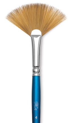 Winsor & Newton Cotman Watercolor Brush - Fan, Short Handle, Size 4''