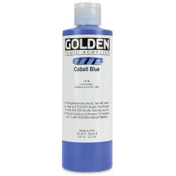Golden Fluid Acrylics - Cobalt Blue, 8 oz bottle
