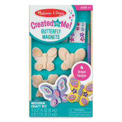 Melissa & Doug Created by Me Wooden Magnets Craft Kit - Butterfly