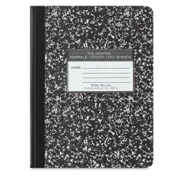 Roaring Spring Composition Notebook - Lined, Black Cover, 9-3/4'' x 7-1/2'', 100 Sheets