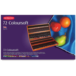 Derwent Coloursoft Pencil Set - Assorted Colors, Wood Box, Set of 72