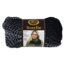Lion Brand Scarfie Yarn - Black/Cream