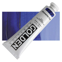 Golden Heavy Body Artist Acrylics - Ultramarine Blue, 2 oz Tube