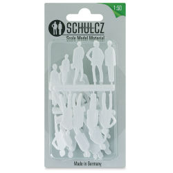 "Schulcz Scale Model Figures - Silhouette, Pkg of 20, 1:50, 1/4"" (front of package)"