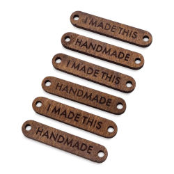 The Hook Nook Project Labels - Sew-On Wood Labels, Package of 6