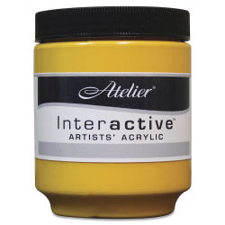 Chroma Atelier Interactive Artists' Acrylics - Arylamide Yellow Deep, 250 ml jar