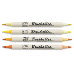 Zig Brushables Dual Tip Markers - Set of 4, Yellows