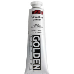 Golden Heavy Body Artist Acrylics - Quinacridone Crimson, 2 oz Tube