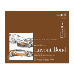 Strathmore 400 Series Layout Bond Pad - 14'' x 17'', Tape Bound, 50 Sheets
