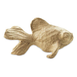 DecoPatch Small Paper Mache Animal - Fish