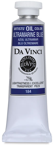 Da Vinci Artists' Oil Color - Ultramarine Blue, 37 ml Tube
