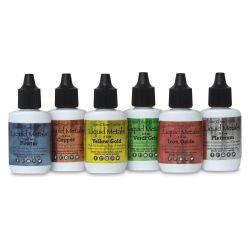 Ken Oliver Color Burst Watercolor - Liquid Metals, Heavy Metal, Set of 6