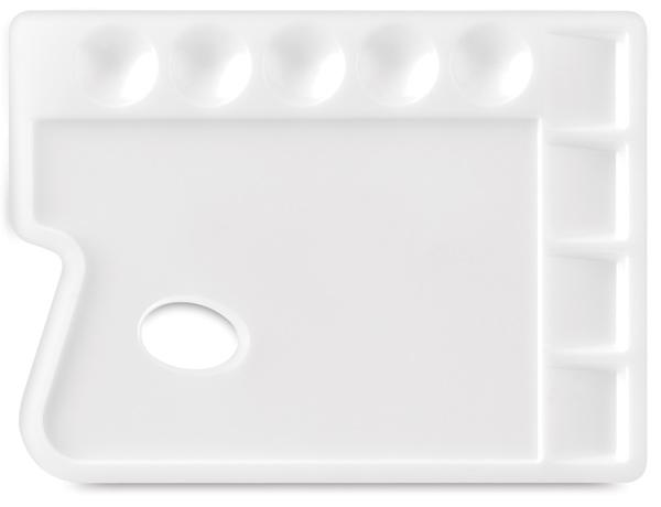 Plastic Palette - 11 3/4'' x 8 3/4'', 4 Square Wells/ 5 Round Wells, Rectangular