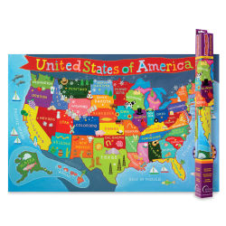 Round World Products Kid's Wall Map - United States
