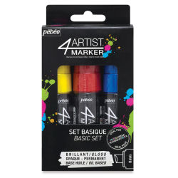 Pebeo 4Artist Marker - Basics, Set of 3, 8 mm