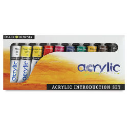 Daler-Rowney Graduate Acrylics - Introductory Set, Set of 10 colors, 38 ml tubes