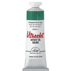 Utrecht Artists' Oil Paint - Permanent Green Light, 37 ml tube