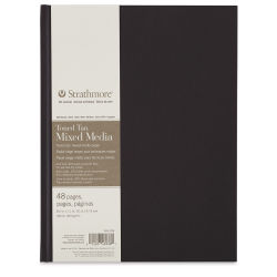 Strathmore 400 Series Hardbound Toned Mixed Media Artist Journal - Gray, 11'' x 8-1/2'', 48 pages