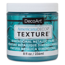 DecoArt American Decor Texture Paint - Aquamarine Metallic, 8 oz