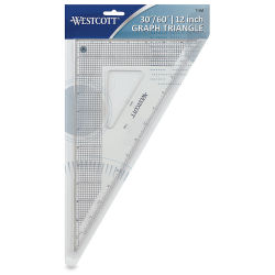 Westcott Gridded Triangle - 12'', 30-60 Degree
