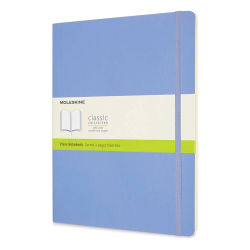 "Moleskine Classic Soft Cover Notebook - Light Blue, Blank, 9-3/4"" x 7-1/2"""