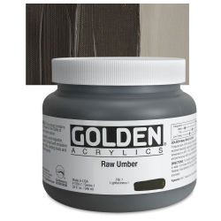 Golden Heavy Body Artist Acrylics - Raw Umber, 32 oz jar