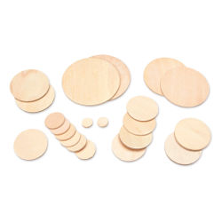 Darice 2-D Wood Cutouts - Circles, Assorted Sizes, 21 Pieces