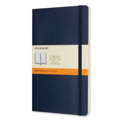 "Moleskine Classic Soft Cover Notebook - Sapphire Blue, Ruled, 8-1/4"" x 5"""